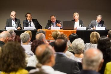 D'esquerra a dreta Pere Cladellas, Miquel Hernández-Bronchud, Josep Sánchez Toledo, Maria Teresa Coll i Josep Mayoral. Font: Xavier Solanas